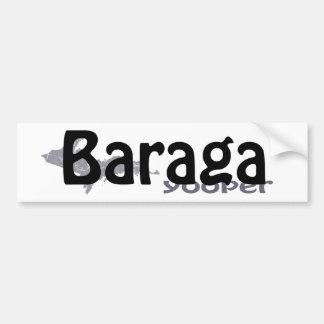 Pegatina para el parachoques de Baraga Michigan Yo Etiqueta De Parachoque