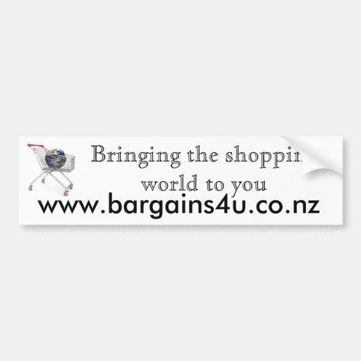 Pegatina para el parachoques de Bargains4u Pegatina De Parachoque