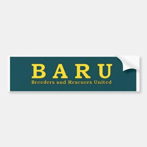 Pegatina para el parachoques de BARU Pegatina Para Auto