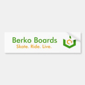 Pegatina para el parachoques de BerkoBoards Pegatina Para Auto
