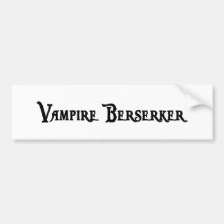 Pegatina para el parachoques de Berserker del vamp Pegatina Para Auto