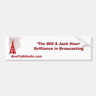 pegatina para el parachoques de BestTalkRadio.com Pegatina De Parachoque