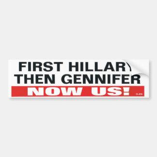 pegatina para el parachoques de Bill Clinton de lo Pegatina Para Auto