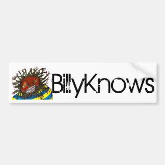 Pegatina para el parachoques de BillyKnows Pegatina Para Auto