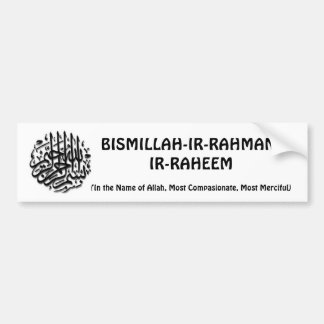 Pegatina para el parachoques de Bismillah Etiqueta De Parachoque
