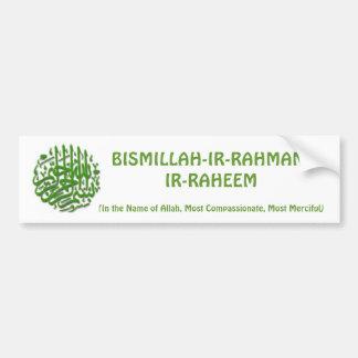 Pegatina para el parachoques de Bismillah Pegatina Para Auto