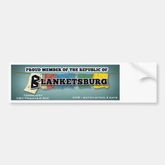 Pegatina para el parachoques de Blanketsburg Pegatina Para Auto
