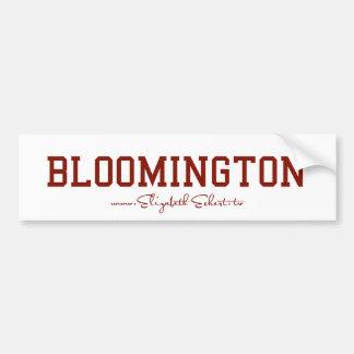 Pegatina para el parachoques de Bloomington Pegatina Para Auto