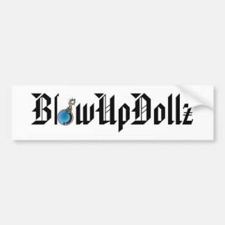 Pegatina para el parachoques de BlowUpDollz con la Pegatina Para Auto