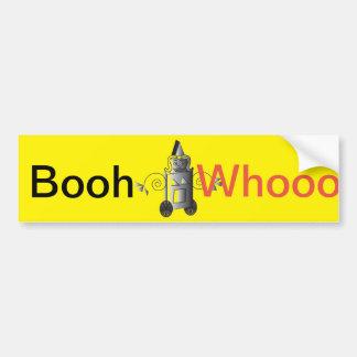 Pegatina para el parachoques de Booh-Whooooo Pegatina Para Auto