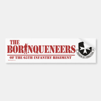 Pegatina para el parachoques de Borinqueneers Etiqueta De Parachoque
