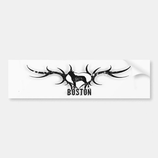 Pegatina para el parachoques de Boston Terrier Pegatina Para Auto