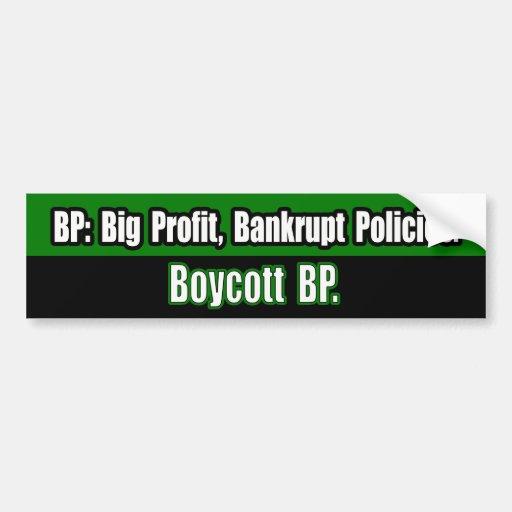 Pegatina para el parachoques de BP del boicoteo Etiqueta De Parachoque