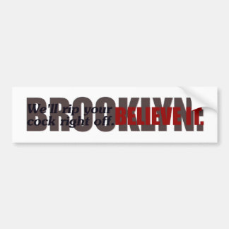 pegatina para el parachoques de Brooklyn de los @g Pegatina Para Auto