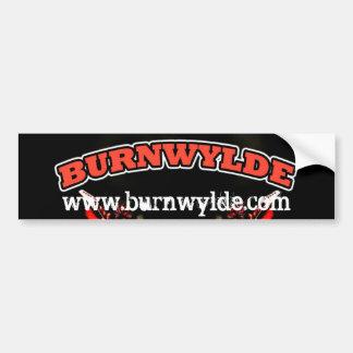 Pegatina para el parachoques de Burnwylde Etiqueta De Parachoque