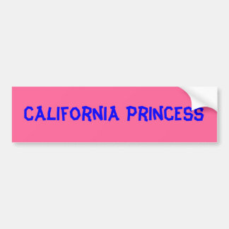 Pegatina para el parachoques de California Princes Pegatina Para Auto