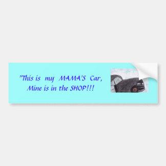 Pegatina para el parachoques de Car de mi mamá Pegatina De Parachoque