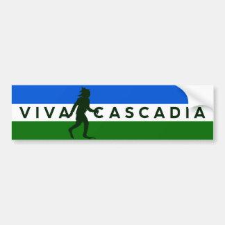 Pegatina para el parachoques de Cascadia Sasquatch Pegatina De Parachoque