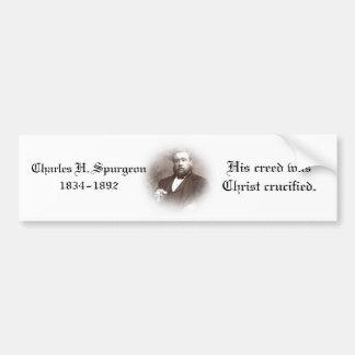 Pegatina para el parachoques de Charles Haddon Spu Pegatina De Parachoque