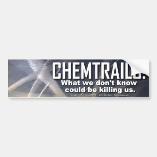Pegatina para el parachoques de Chemtrails Etiqueta De Parachoque