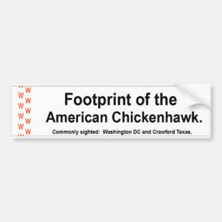Pegatina para el parachoques de Chickenhawk del am Pegatina De Parachoque