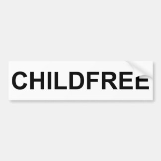 Pegatina para el parachoques de Childfree Pegatina Para Auto