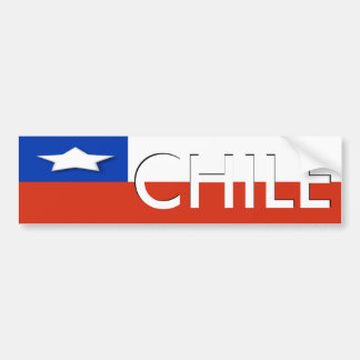 Pegatina para el parachoques de Chile Pegatina De Parachoque