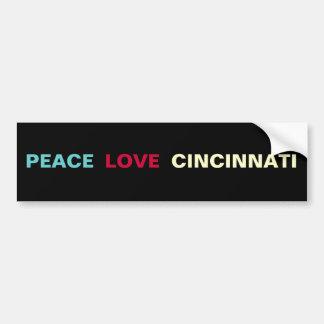 Pegatina para el parachoques de Cincinnati del amo Etiqueta De Parachoque