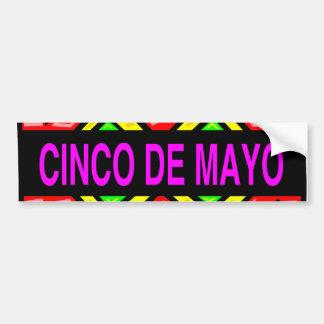 Pegatina para el parachoques de Cinco de Mayo Pegatina Para Auto