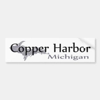 Pegatina para el parachoques de cobre de Michigan Pegatina Para Auto