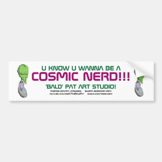 Pegatina para el parachoques de CosmicNerd Etiqueta De Parachoque