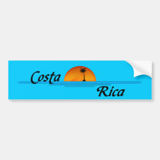 Pegatina para el parachoques de Costa Rica Pegatina Para Auto