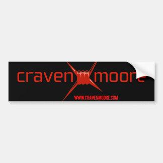 Pegatina para el parachoques de Craven Moore Pegatina De Parachoque