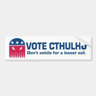 Pegatina para el parachoques de Cthulhu del voto Pegatina De Parachoque