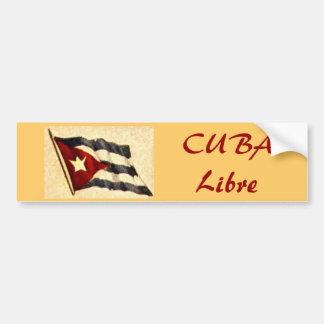 Pegatina para el parachoques de CUBA Libre Pegatina Para Auto
