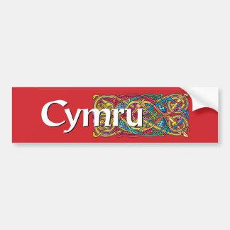 Pegatina para el parachoques de Cymru Pegatina Para Auto