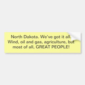 Pegatina para el parachoques de Dakota del Norte Pegatina Para Auto