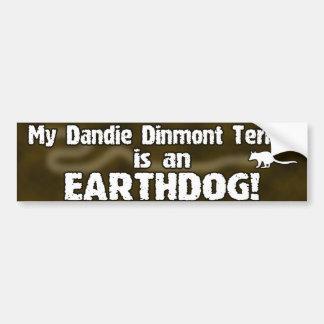 Pegatina para el parachoques de Dandie Dinmont Ter Etiqueta De Parachoque