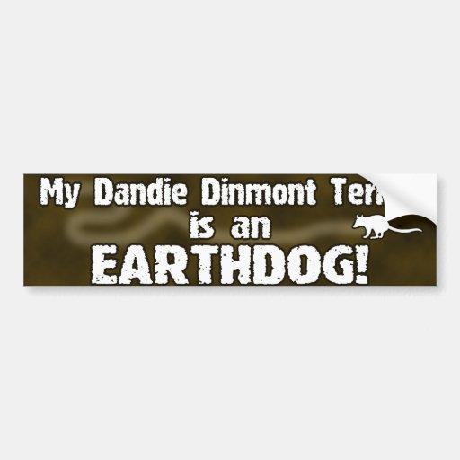 Pegatina para el parachoques de Dandie Dinmont Ter Pegatina Para Auto