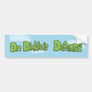 Pegatina para el parachoques de Defense del Dr. Di Pegatina De Parachoque