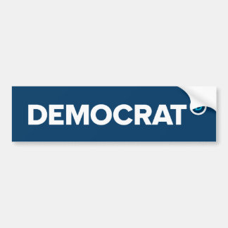 Pegatina para el parachoques de Demócrata Pegatina De Parachoque