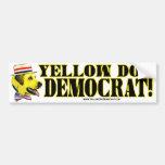 Pegatina para el parachoques de Demócrata del perr Etiqueta De Parachoque