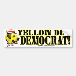 Pegatina para el parachoques de Demócrata del perr Pegatina Para Auto