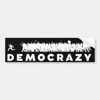 Pegatina para el parachoques de Democrazy Pegatina Para Auto