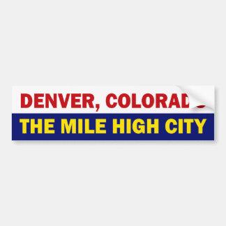 Pegatina para el parachoques de Denver, Colorado Pegatina Para Auto