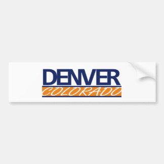 Pegatina para el parachoques de Denver Colorado Pegatina Para Auto