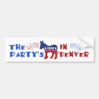 Pegatina para el parachoques de Denver del conveni Pegatina Para Auto