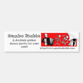 Pegatina para el parachoques de Diablo del Gumbo Etiqueta De Parachoque