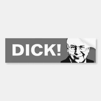 Pegatina para el parachoques de Dick Cheney Etiqueta De Parachoque
