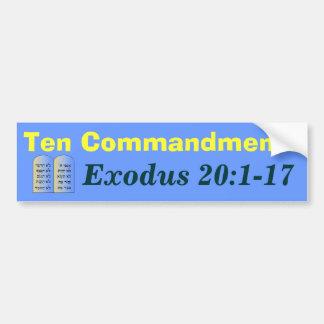 Pegatina para el parachoques de diez mandamientos pegatina de parachoque